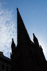 Trinity Church (beeldmark) Tags: newyorkcity usa newyork building church silhouette us unitedstates pentax manhattan trinity vs 40mm amerika limited smc kerk f28 gebouw   verenigdestaten pentaxlimited pentaxda smcpentaxda40mmf28limited smcpda40mmf28 beeldmark