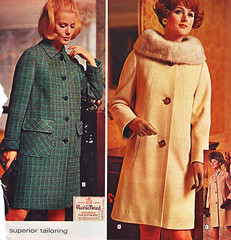 Wards 70 fw two coats (jsbuttons) Tags: winter fashion vintage fur clothing buttons coat womens clothes button 70s catalog 1970 seventies wards fashions womans vintageclothing