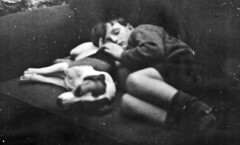 Asleep (theirhistory) Tags: boy dog chair child jacket shorts asleep ldlnoir