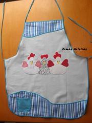 Avental galinhas (irmasarteiras2) Tags: patchwork avental galinhas patchaplique