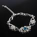 Mooie lichtblauwe strass armband