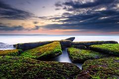 Pantai Lima (revanz77) Tags: longexposure sunset sea sky bali seascape beach nature water clouds indonesia landscape rocks originalfilter uploaded:by=flickrmobile flickriosapp:filter=original vision:sunset=093