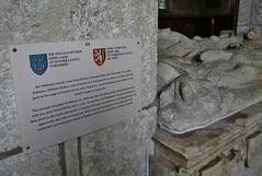 ca. 1426 - 'Sir William Ryther (+ca. 1426) and Sybil Ald(e)burgh (+1440)', All Saints' Church, Harewood, Yorkshire, England (roelipilami (Roel Renmans)) Tags: sculpture church monument century spur belt all pierre yorkshire tomb ss gothic helmet lion saints william crest sybil knight hip dagger collar sir chevalier armour 15th aldeburgh misericorde dalle helm effigy gauntlet tilting 1426 funéraire leeuw tombeau armure 1440 gisant harewood grabmal aldborough ridder jewelled aldburgh tombale orle gorget grafmonument grabdenkmal lancastrian bascinet sabaton jupon graftombe ryther cingulum besagew grabbild rayther
