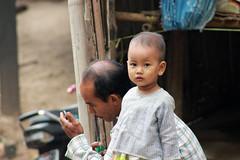 Boy and Dad (KX Studio) Tags: travel boy canon dad burma father myanmar bagan ayeyarwaddyriver rebelt3i