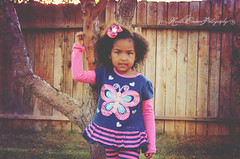 (Krista Cordova Photography) Tags: tree fall girl kids butterfly children sister cutekids hispanicchildren cuteclothes africanamericanchildren