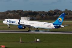 D-ABOC (GerardvdSchaaf) Tags: airplane aircraft aviation civil boeing condor dusseldorf 757 airliner boeing757 eddl daboc
