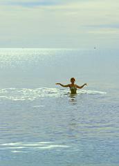 Morning swim (1981) (jonathan charles photo) Tags: sea sun art topf25 swim photo costume jonathan charles seethrough swimsuit jonathancharles chercherlafemme