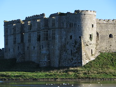 Carew Castle - north range and north-west tower (Dubris) Tags: building castle wales architecture cymru ruin fortification pembrokeshire carewcastle carew cadw caeriw
