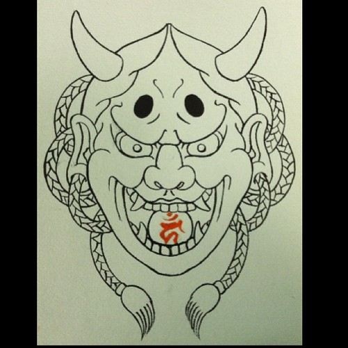 """Hanna mask/bonji @ancientinktattoo • <a style=""""font-size:0.8em;"""" href=""""http://www.flickr.com/photos/103391123@N04/11124699715/"""" target=""""_blank"""">View on Flickr</a>"""