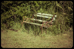 Nobody sits here anymore (Richard Cheesman) Tags: abandoned wales bench decay pembrokeshire d90 nikond90 hiltoncourt