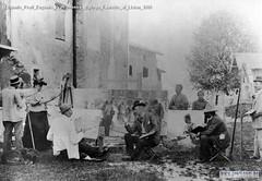 Eugenio Prati Eugenio Prati mentre dipinge Favretto al Liston 1889