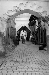 Scan-131230-0038.jpg (mathendrix) Tags: africa street door analog blackwhite market marrakech roll2 nikonf3 souq marroco fujineopan400 homedeveloping 2013 nikoncoolscan5000ed