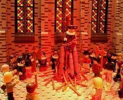 Burn Baby Burn (peggyjdb) Tags: t death catholic lego burning oxford protestant cranmer