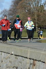 First Half Feb 16 2014 101422 (gherringer) Tags: canada vancouver race outdoors athletics downtown bc exercise britishcolumbia competition running seawall runners englishbay stanleypark colourful westend fit active bibs 211km 131mi vanfirsthalf