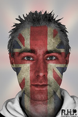 Andrew patriotic (Richard Hayward Photography) Tags: uk portrait english photoshop canon manchester jack photography eos photo mask image flag union picture patriotic richard layer british hd hayward unionjack postprocess edit pp rhp 600d layermask blinkagain canoneos600d