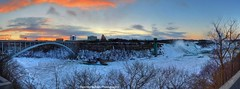 got up early for the colours (Rex Montalban Photography) Tags: bridge sunrise niagarafalls colours waterfalls hdr stitchedpanorama 4images nikond600 rexmontalbanphotography