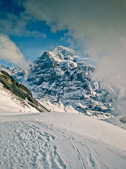 Grindelwald, Switzerland (Brent Betz) Tags: blue vacation sky sunlight house snow ski mountains alps cold fog clouds lost switzerland village wind altitude footprints hike skilift grindelwald elevation sled interlaken