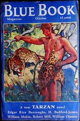 """Blue Book (Oct, 1935). """"Tarzan and the Immortal Men."""" Cover by Herbert Morton Stoops (lhboudreau) Tags: magazine pulp tarzan pulpmagazine magazinecover 1935 edgarriceburroughs magazinecovers pulpmagazinecovers bluebook pulps pulpart pulpmagazines thebluebook pulpmagazinecover bluebookmagazine october1935 herbertmortonstoops thebluebookmagazine tarzanandtheimmortalmen"""
