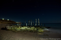 Old Port Willunga Jetty by Moonlight (DandG Photography) Tags: ocean longexposure night landscape nikon jetty australia portwillunga