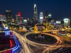Saigon at dusk (Marty Windle -Travel Photographer) Tags: light night asia ben market dusk cbd streams saigon