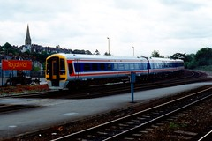 159003 Exeter St Davids 31.05.93 (jonf45 - 2 million views-Thank you) Tags: st br rail trains class exeter british network southeast railways davids nse 159 dmu 159003