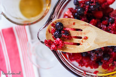 Making a Wineberry Crisp (lisaclarke) Tags: food fruit baking strawberries snacks blackberries blueberries wineberries fruitcrisps summerberrycrisps
