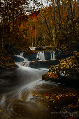 Cascades Tremont (Ron Harbin Photography) Tags: park autumn light usa mountains fall water leaves rocks tn low tripod great smooth national waterfalls smoky townsend silky tremont