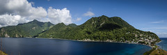 Toes of Dominica Panorama (thesweetwoods) Tags: blue panorama dominica soufriere scottshead