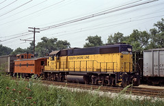CSS&SB GP38-2 2003 and Caboose 10001 West of Miller Rd, IN (railfan 44) Tags: city chicago bend michigan south shore interurban