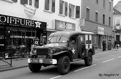 Dfil Militaire (fangio678) Tags: bw white black 22 jeep 11 strasbourg camion liberation anniversaire militaire 1944 commemoration 2014 commmoration bischheim 70eme