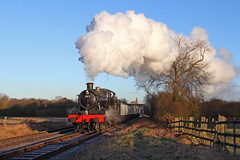 Manor in the Morning (Treflyn) Tags: morning winter sun tree train wagon during photo time events great central rail railway loco photographic class steam line explore western mineral timeline locomotive catches manor freight charter gwr 460 woodthorpe explored 7820 16t windcutter dinmoremanor