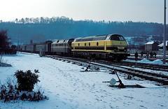 5521 + 6069  Givet  09.02.83 (w. + h. brutzer) Tags: analog train nikon eisenbahn railway zug trains locomotive 55 belgien lokomotive diesellok givet eisenbahnen sncb dieselloks webru