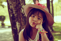PIcture perfect (EnJANEer) Tags: summer cute girl smile hat vintage hair children model long photoshoot princess little outdoor innocent young attitude malaysia theme pouty