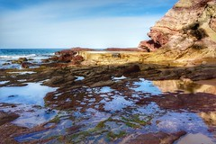 Rockpools and old baths pool (jack eastlake) Tags: beach rock port coast fishing south pools valley baths nsw eden aisling far saltwater bega