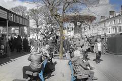 got the blues (Tony Shertila) Tags: people blackandwhite bw public festival wales geotagged europe unitedkingdom britain outdoor space crowd fair event rod processed llandudno greyscale gbr llandudnocommunity geo:lat=5332229290 geo:lon=382498026 20160430132422