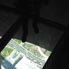 Glass floor (WabbitWanderer) Tags: toronto ontario glass cntower view floor down heights height glassfloor