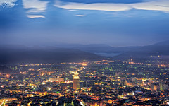 Puli downtown (M.K. Design) Tags: longexposure sunset lights landscapes nikon scenery glow taiwan cityscapes sigma      hdr  puli   nantou  2016  nightimage 85mmf14        d800e