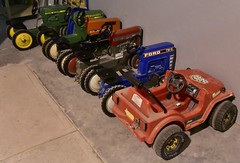 Pedal tractors and car (D70) Tags: ford toy toys jeep tractors suv motorsports ferguson pedal johndeere 390 wrangler massey allischalmers tw5 8070