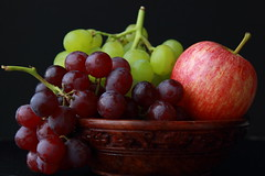 Fruits in window light (Exploring Photography (Suchitra)) Tags: stilllife apple fruits grapes