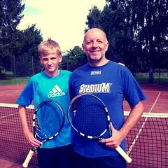Erik och Mujo 2013-08-17 (Michael Erhardsson) Tags: tennis km htk klubbmsterskap 2013 hallsberg hallsbergstk