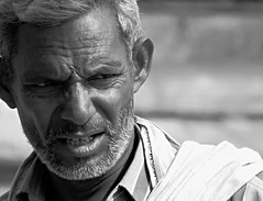 india (gerben more) Tags: portrait people india man monochrome blackwhite portret rajasthan stubbles