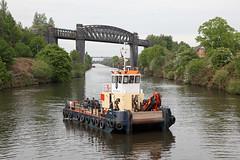 'Vital' Latchford locks 19th May 2016 (John Eyres) Tags: warrington vessel locks below purpose vital manchestershipcanal mutli latchford carmets 190516
