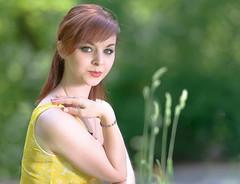 Martina 01 (xfoTOkex) Tags: red portrait people green girl yellow nikon women bokeh outdoor sunny location redhead gras 28 70200 d800