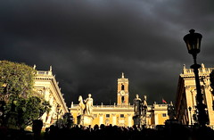 week-end  Rome ... (jean-marc losey) Tags: rome roma italia italie orage contrejour piazzadelcampidoglio p7000 placeducapitol