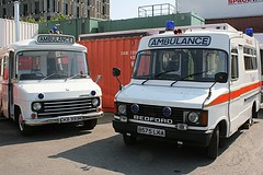 Bedford CF Ambulances 1972 & 1984 (Lazenby43) Tags: bedford swift sthelens kirkby aec northwestvehiclerestorationtrust