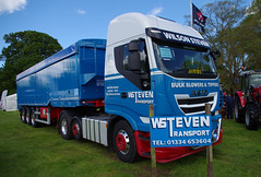 Wilson Steven Transport of Wester Dura, Cupar, Iveco Stralis  N88WST at the Fife Show in Cupar, 21st May 2016 (andyflyer) Tags: truck transport lorry haulage cupar hgv roadtransport wsteven wilsonsteventransport wsteventransport