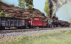 Reading N-1 with smoke (ecpeters15) Tags: railroad scale train reading bash model 2000 steam company locomotive kit ho custom build scratch articulated built n1 proto kitbash 2880