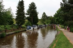 Day on the canal (Eddie Crutchley) Tags: trees england canal europe cheshire outdoor narrowboats audlem greatphotographers