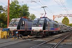 West End ALPs (Adrian Corus) Tags: new yard train branch nj rail line transit jersey alp gladstone njt 4645 4635 alp46 njtr alp46a