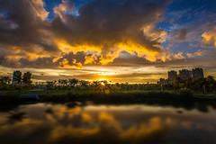 Sunset (Isaac Chiu5433) Tags: park sunset sky color clouds reflections landscapes         colortemperature